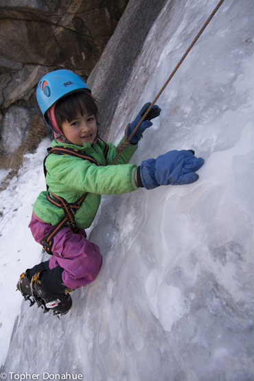 6-year-old discovering ice
