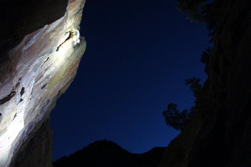 Rock Climbing Photo: Kloof at night!