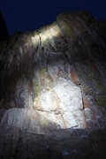 Rock Climbing Photo: Lit up at night.