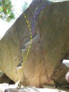 Rock Climbing Photo: Bullfighter's Friend V3-4 (yellow) The Ambassador....