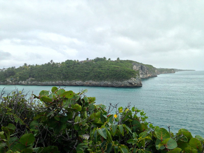 This is the southern cliff line in Gregory Town (on the Caribbean side). There are miles of cliff lines headed both north and south with potential on all of it.