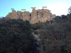 Rock Climbing Photo: Chessman Overview