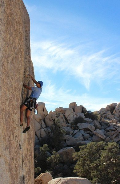 Rock Climbing Photo: Semi-Tough. Photo by Audrey. 18 Jan 2014.
