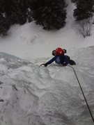 Rock Climbing Photo: Nate following Genesis 1