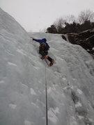 Rock Climbing Photo: Nate leading Genesis 2.