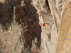 Rock Climbing Photo: Offwidth on pitch 4.