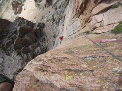 Rock Climbing Photo: Top half of pitch 2.