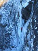 Rock Climbing Photo: Atticus top roping the first pitch of Big Daddy.