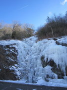 Rock Climbing Photo: the second pitch, January 18th, 2014 - not leadabl...