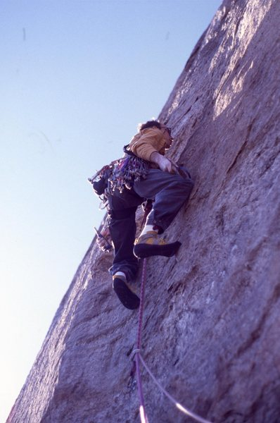 Rock Climbing Photo: CC beginning pitch 3 FA Stonewall Action.