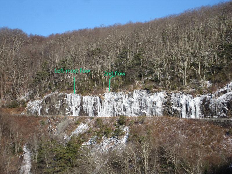 Rock Climbing Photo: Two NE end routes