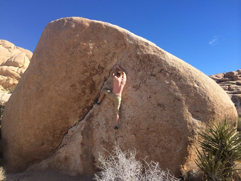Rock Climbing Photo: This is a V2 , seemed harder lol
