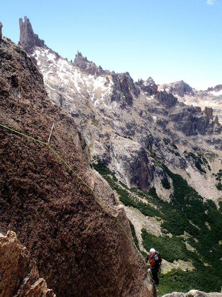 Rock Climbing Photo: Arete pitch 1