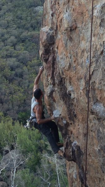 Rock Climbing Photo: Gravity Crux part 1