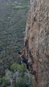 Rock Climbing Photo: Gravity - Match on the Crux and bump up to next ho...