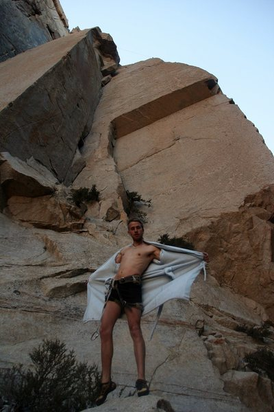 Rock Climbing Photo: post climb air-out / redpoint robe climb