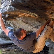 Rock Climbing Photo: pulling the lip