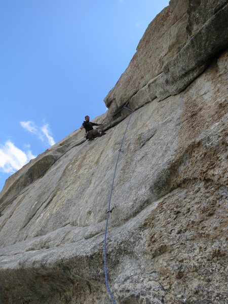 Rock Climbing Photo: Justin on the amazing 4th pitch -- this is the res...