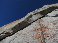 Rock Climbing Photo: The final roof on the 2nd crux -- wild moves pulli...
