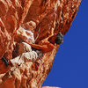 Sending 5.12 in Red Rocks,  Sunny and Steep Wall.