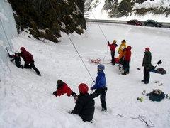 Rock Climbing Photo: Kicking it at the base of P.O.S.