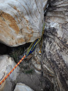 Rock Climbing Photo: There's one short rap on the descent from Angel Fo...