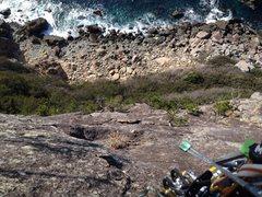Rock Climbing Photo: Enjoy the view below.