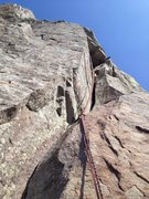 Rock Climbing Photo: Start of 5th pitch.