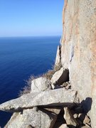 Rock Climbing Photo: Anchors for 2nd belay descent later.