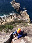 Rock Climbing Photo: Off width. 6th pitch.
