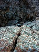 Rock Climbing Photo: Nate climbing into the splitter tight hands corner...