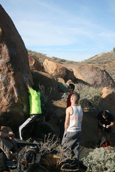 Rock Climbing Photo: Fun group we met there. Never see anyone climbing ...