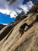 Rock Climbing Photo: Nate finishing up on a beautiful January day. SSV,...
