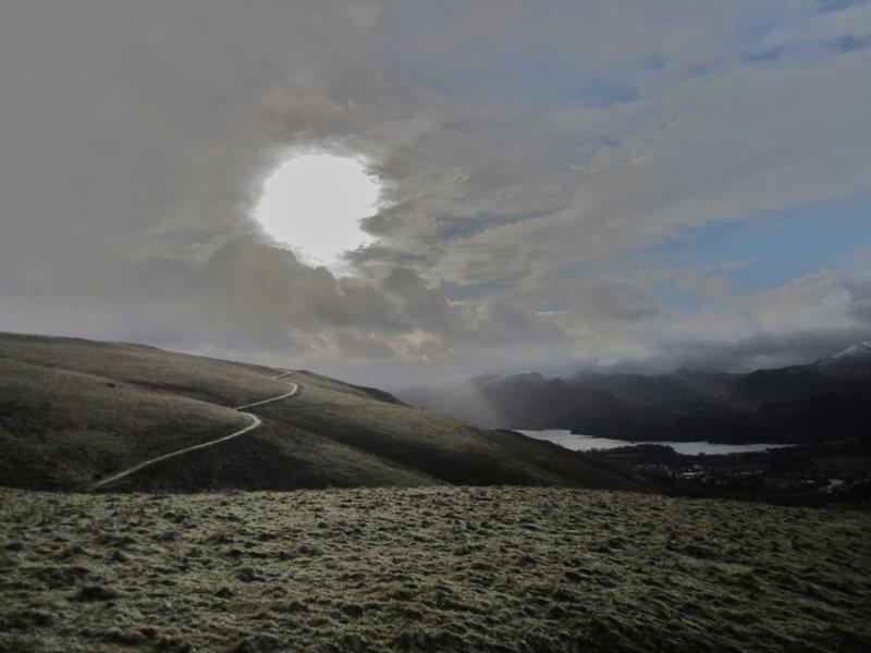 Rock Climbing Photo: Bleak day on Latrigg Lake District. Jan 2014