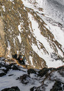 Rock Climbing Photo: Eddie coming up the first section of headwall befo...