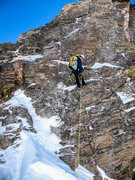 Rock Climbing Photo: Rapping into the notch.