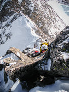 Rock Climbing Photo: Climbing one of the steeper sections of the ridge....