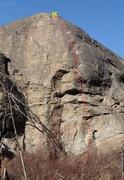 Rock Climbing Photo: Route of All Evil topo