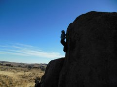 Rock Climbing Photo: My wife, second ascent of eating crow.