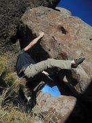 The overhang Boulder.