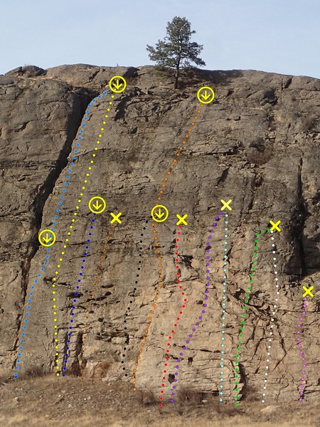 """Main Wall"" routes - Upper West Side"