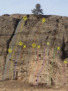 "Rock Climbing Photo: ""Main Wall"" routes - Upper West Side"