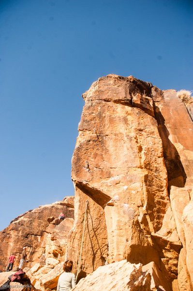 Rock Climbing Photo: Skin Graft Topo Photo