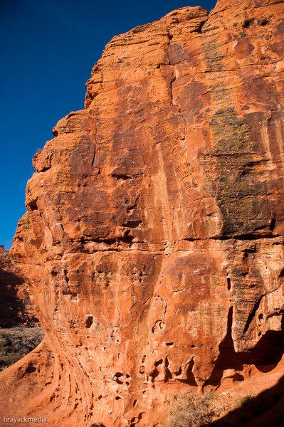 Rock Climbing Photo: Meaty Bones - Topo Image