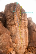 Rock Climbing Photo: Flying off the Handle Topo Image