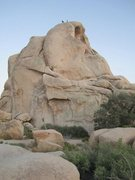 Rock Climbing Photo: Standing atop intersection after climbing The Flak...