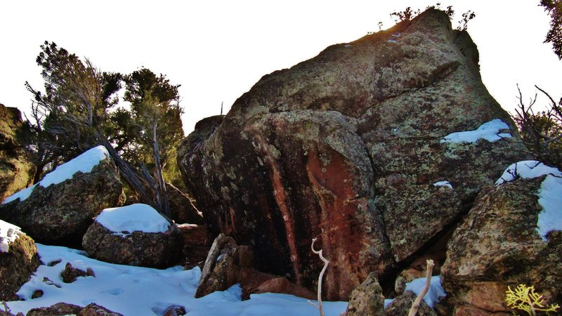 Midland Rock's north and east faces.