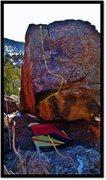 Rock Climbing Photo: Bravado Justice problem beta. Follow the dihedral'...