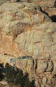 Rock Climbing Photo: Mole Rat Crack (5.6).