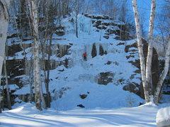 Rock Climbing Photo: Joe T. following Mark M.'s lead. The Bunny Hill Ar...